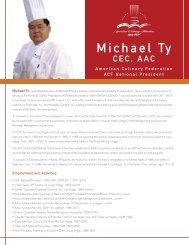 Michael Ty - American Culinary Federation