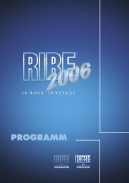 RIBE Innovationstage 2006 - Programm