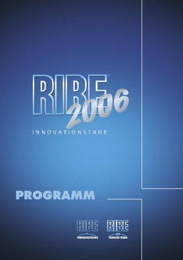 RIBE Innovationstage 2006 - Programm