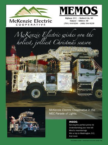 December 2008 - McKenzie Electric Cooperative, Inc.