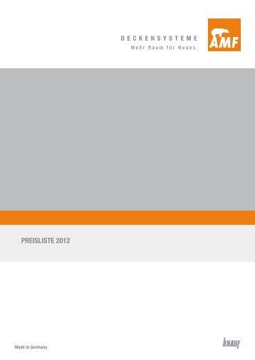 PREISLISTE 2012 - Knauf AMF GmbH & Co. KG