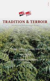 tradition & terroir - SCHWEIZERISCHE VEREINIGUNG DER AOC ...