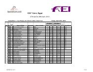 Final Results for CSI Cairo 27-28 Apr. 2012 - Horse Times