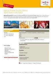 New Year's Eve Gala - DDSG Blue Danube Schiffahrt GmbH