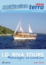 Motorsegler in Kroatien - Terra Schiffsreisen