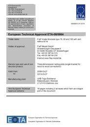 European Technical Approval ETA-08/0064 - ETA-Danmark