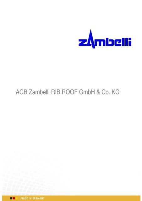 AGB Zambelli RIB ROOF GmbH & Co. KG