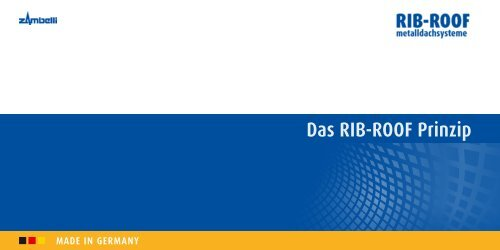 Das RIB-ROOF Prinzip - Zambelli GmbH & Co. KG