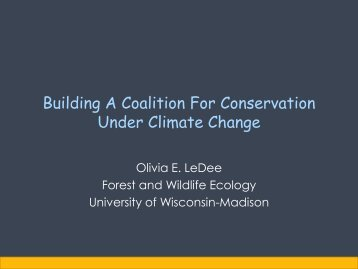 Building a Coalition to Support Wildlife Managers - Climate Change ...