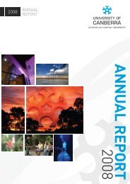 2008 annual report - University of Canberra