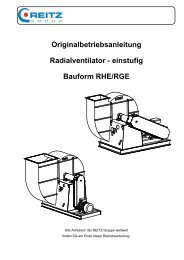 Bedienungsanleitung KXE - REITZ Ventilatoren