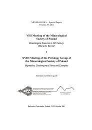 Mineralogical Society of Poland - Polskie Towarzystwo ...