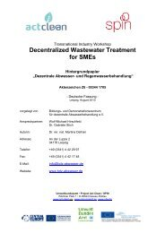 Decentralized Wastewater Treatment for SMEs - spin