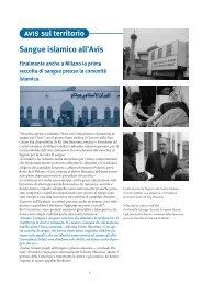 Sangue islamico all'Avis Finalmente anche a Milano la ... - avis milano