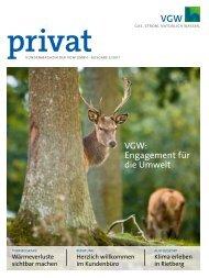 Kundenmagazin privat, Ausgabe 3/2011 - Vereinigte Gas- und ...