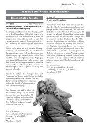 Akademie 50+ - Volkshochschule Reckenberg-Ems
