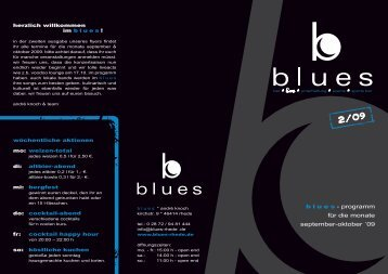blues - programm für die monate september-oktober ... - Blues Rhede