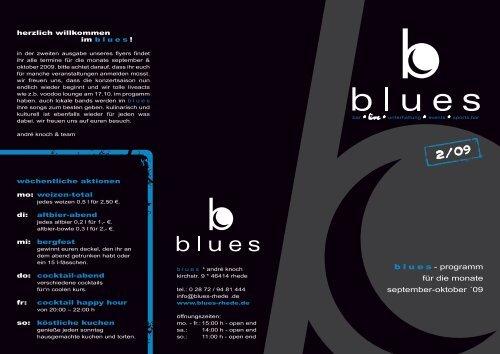 blues - programm für die monate september-oktober ... - Blues Rhede