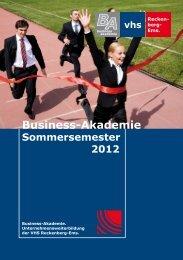 Business-Akademie - Volkshochschule Reckenberg-Ems