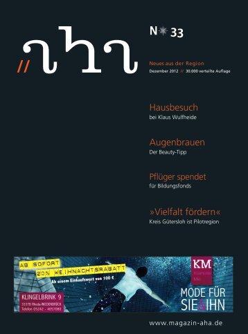 SIE&IHN - aha-Magazin