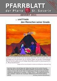 Pfarrblatt Advent 2011 - Pfarrzentrum St.Severin