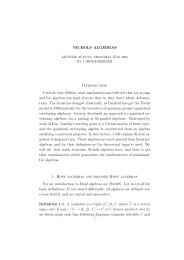 NICHOLS ALGEBRAS Introduction Until the late 1980ies, most ...