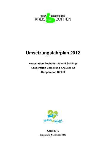 Umsetzungsfahrplan 2012_Deckblatt_12-11-12 - Kreis Borken