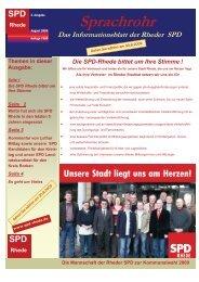 Sprachrohr vom 17.8.2009 3. AUSGABE.pub - SPD Rhede