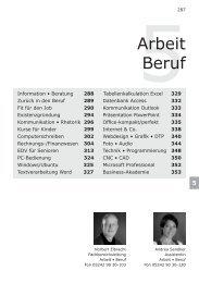 5Arbeit Beruf - Volkshochschule Reckenberg-Ems