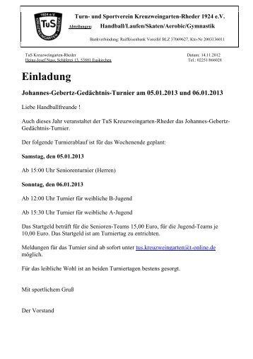 Einladung Johannes-Gebertz-Gedächtnis-Turnier am 05.01.2013 ...