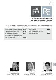 FARE - Volkshochschule Reckenberg-Ems