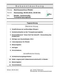 Bekanntmachungen vom 09. September 2010 (ca. 32 ... - Stadt Brakel