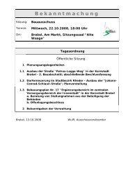 Bekanntmachungen vom 16. Oktober 2008 - Stadt Brakel