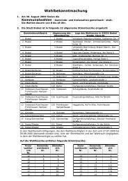 Bekanntmachungen vom 20. August 2009 (ca. 295 KB - Stadt Brakel