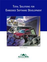 Download - Green Hills Software
