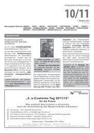 """4. e-Customs-Tag 2011/12"" - Kitzler Verlag"