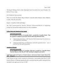 Council Minutes Monday, June 4, 2007 - City of St. John's