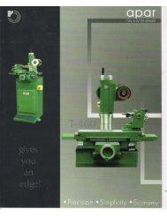 Apar Tool & Cutter Grinder T-480