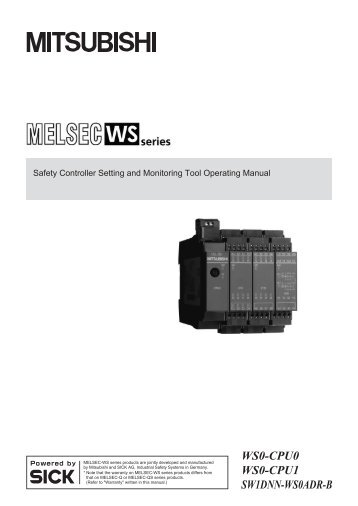 Safety Controller Setting and Monitoring Tool Operating Manual
