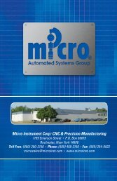 CNC & Precision Manufacturing - Micro Automated Systems Group ...