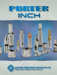 Inch Catalog - Porter Precision Products