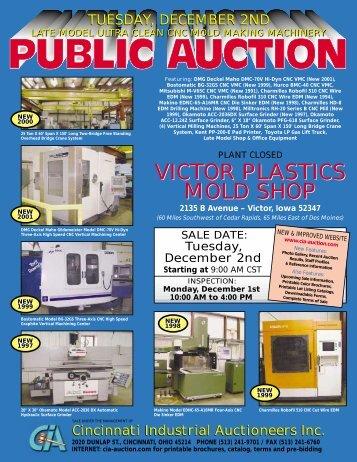victor plastics mold shop victor plastics mold shop - Cincinnati ...