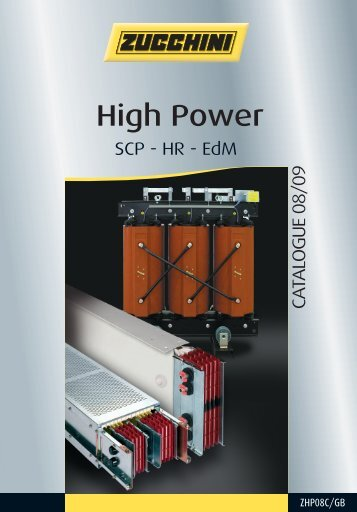 ZUCCHINI - High Power Catalogue - ZHP08C/GB ... - ES PACK ltd