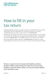 How to fill in your tax return (2012) - HM Revenue & Customs