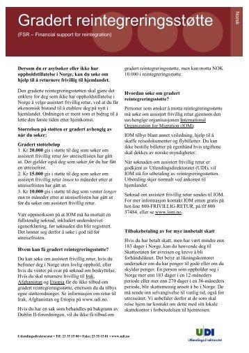 Faktaark - Gradert reintegreringsstøtte - UDI