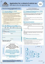 Application for a refund of vehicle tax OR return of a nil ... - Gov.uk