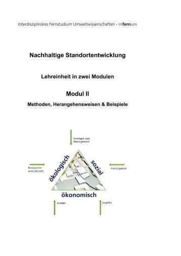 Nachhaltige Standortentwicklung 2 - interdisziplinäres Fernstudium ...
