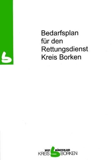 Inhaltsverzeichnis Bedarfsplan Rettungswesen - Kreis Borken