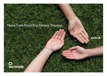 Nokia Care Recycling Service Training