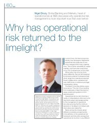 Why has operational risk returned to the limelight? - Markit.com